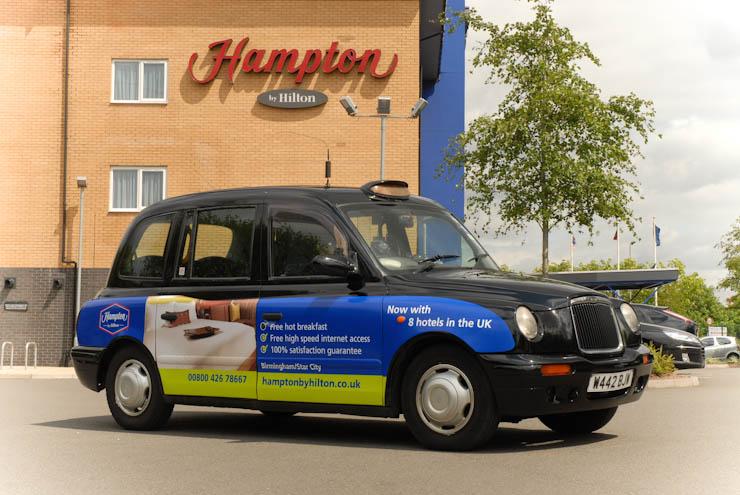 2011 Ubiquitous taxi advertising campaign for Hampton By Hilton - hamptonbyhilton.co.uk