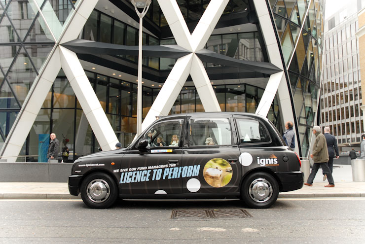 2009 Ubiquitous taxi advertising campaign for Ignis - Various