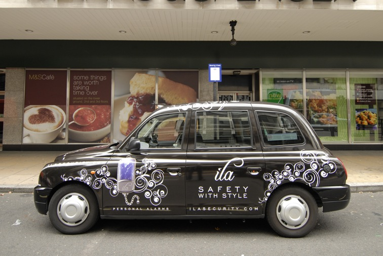 2009 Ubiquitous taxi advertising campaign for ILA - Safety With Style