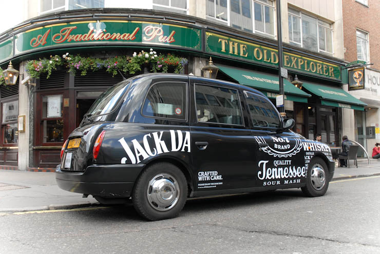 2011 Ubiquitous taxi advertising campaign for Jack Daniels  - Crafted With Care