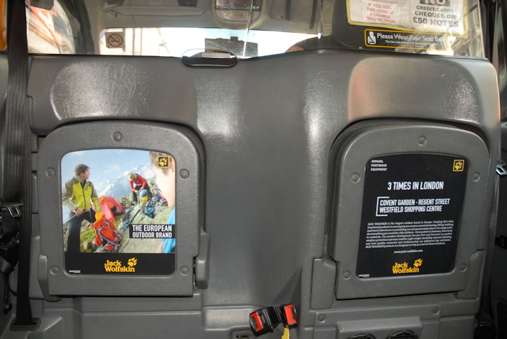 2011 Ubiquitous taxi advertising campaign for Jack Wolfskin - The European Outdoor Brand