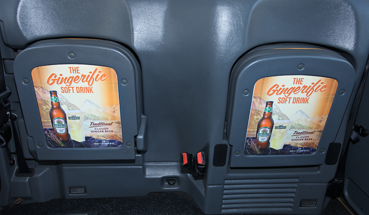 2011 Ubiquitous taxi advertising campaign for John Crabbies - The Gingerific Soft Drink