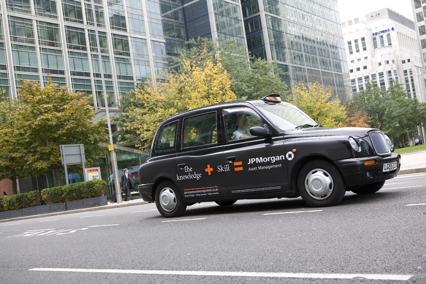 2005 Ubiquitous taxi advertising campaign for JP Morgan - The Knowledge & Skill = JP Morgan