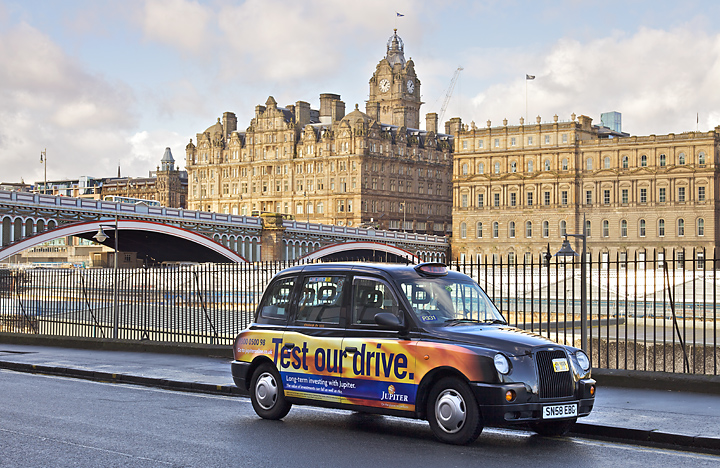 2012 Ubiquitous taxi advertising campaign for Jupiter  - Test our drive