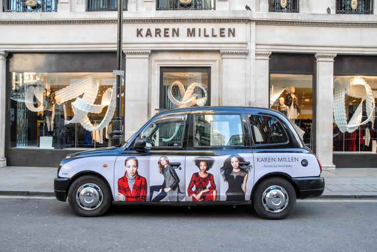 2013 Ubiquitous taxi advertising campaign for Karen Millen - Portraits By David Bailey