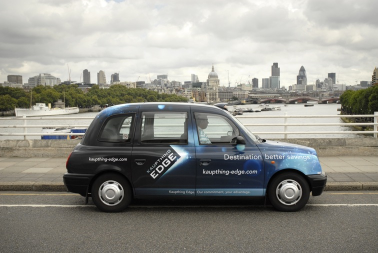 2008 Ubiquitous taxi advertising campaign for Kaupthing Bank - Destination Better Savings