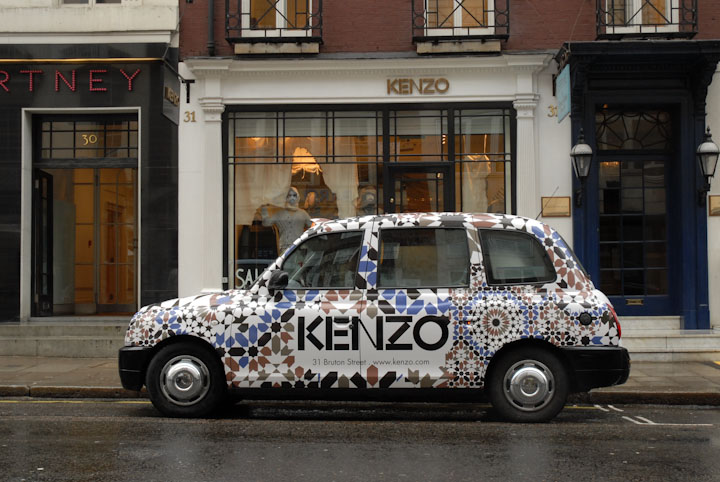 2010 Ubiquitous taxi advertising campaign for Kenzo - Kenzo