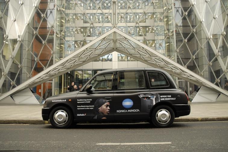 2009 Ubiquitous taxi advertising campaign for Konica Minolta - Konica Minolta