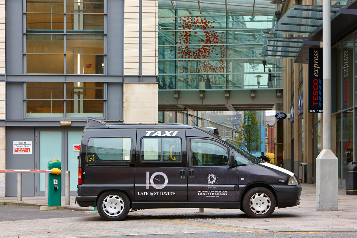 2013 Ubiquitous taxi advertising campaign for Land Securities  - Late by St. Davids