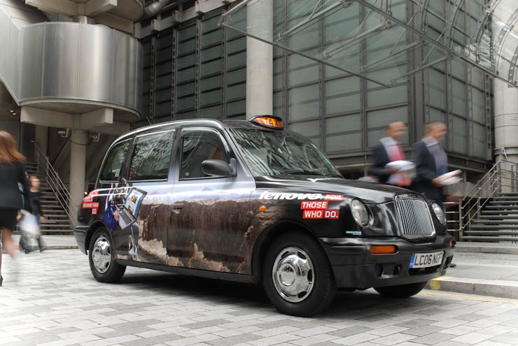2011 Ubiquitous taxi advertising campaign for Lenovo - For Those Who Do
