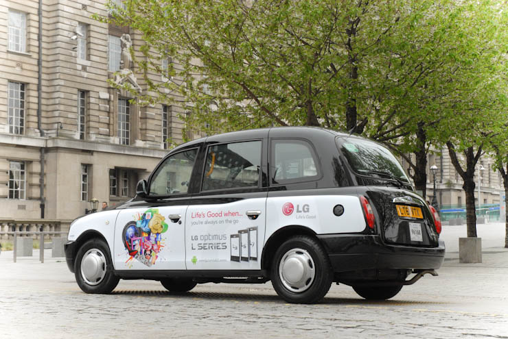 2012 Ubiquitous taxi advertising campaign for LG - LG Optimus L series
