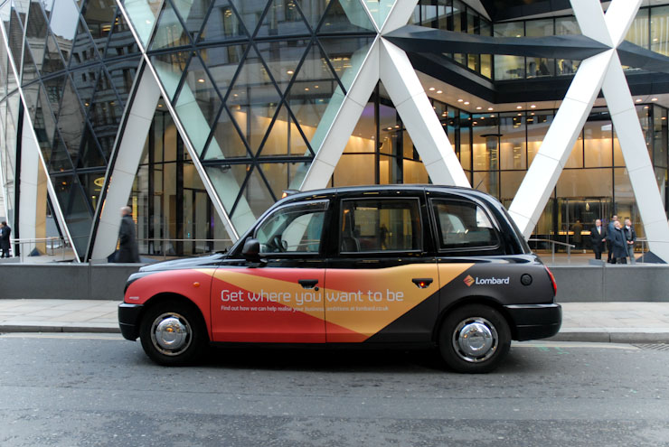 2010 Ubiquitous taxi advertising campaign for Lombard - Get Where You Want To Be