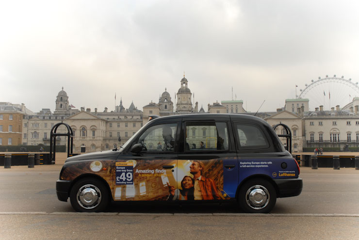 2010 Ubiquitous taxi advertising campaign for Lufthansa - Amazing Finds