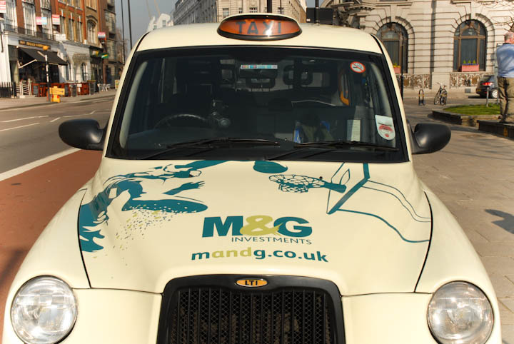 2011 Ubiquitous taxi advertising campaign for M&G - M&G Investments