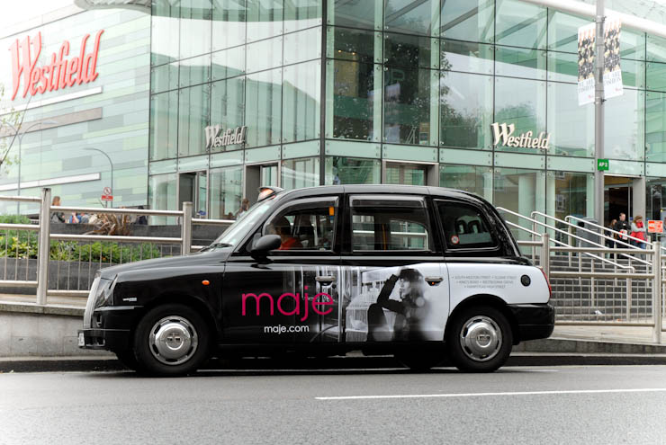 2012 Ubiquitous taxi advertising campaign for Maje - maje.com