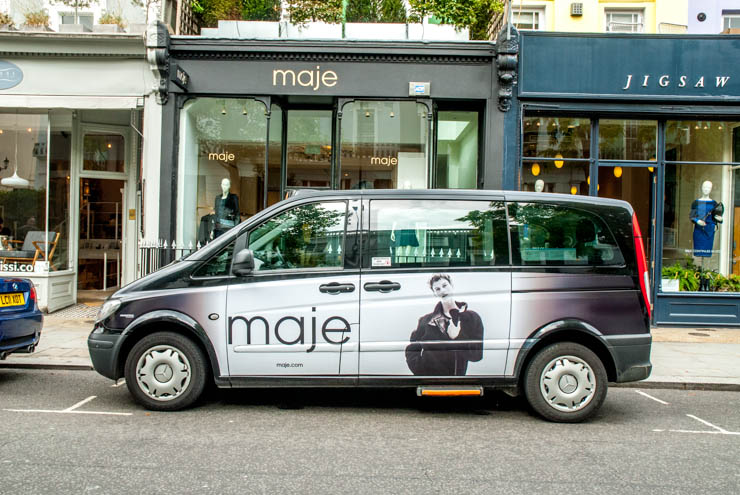 2013 Ubiquitous taxi advertising campaign for Maje - Maje.com