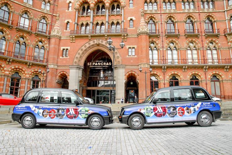2013 Ubiquitous taxi advertising campaign for Marriott - Marriott Rewards