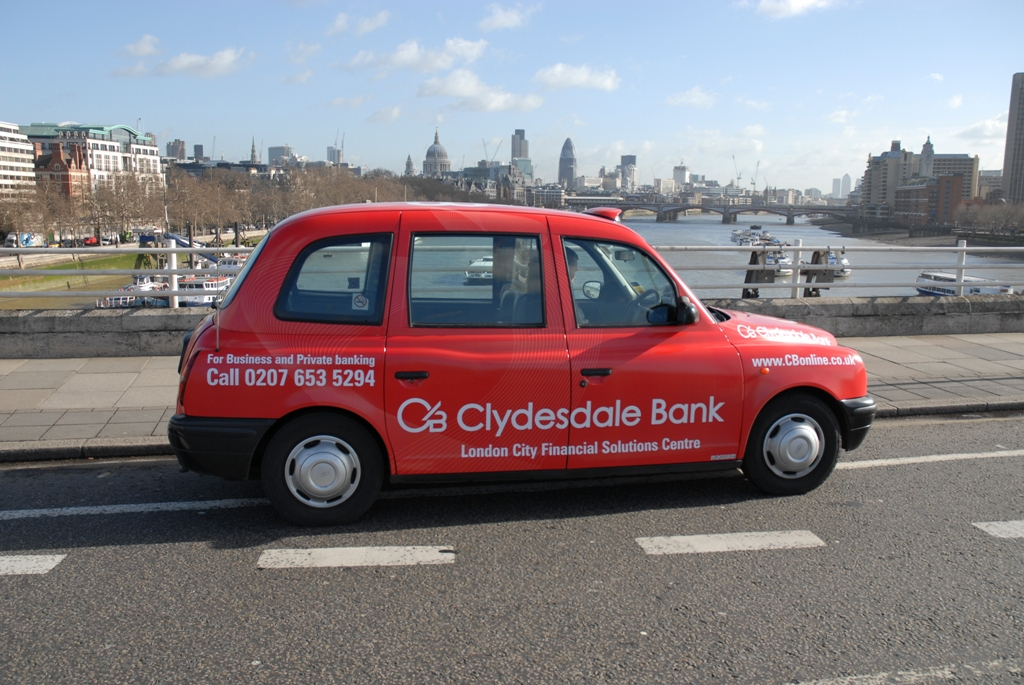 2006 Ubiquitous taxi advertising campaign for Yorkshire & Clydesdale Bank  - Always Thinking About You