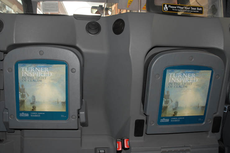 2012 Ubiquitous taxi advertising campaign for The National Gallery  - Turner inspired in the light of Claude