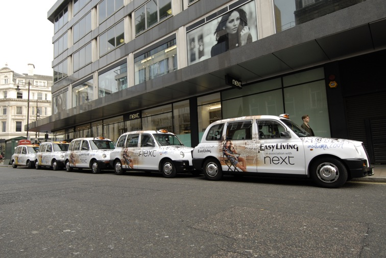 2010 Ubiquitous taxi advertising campaign for Next - London Fashion Week