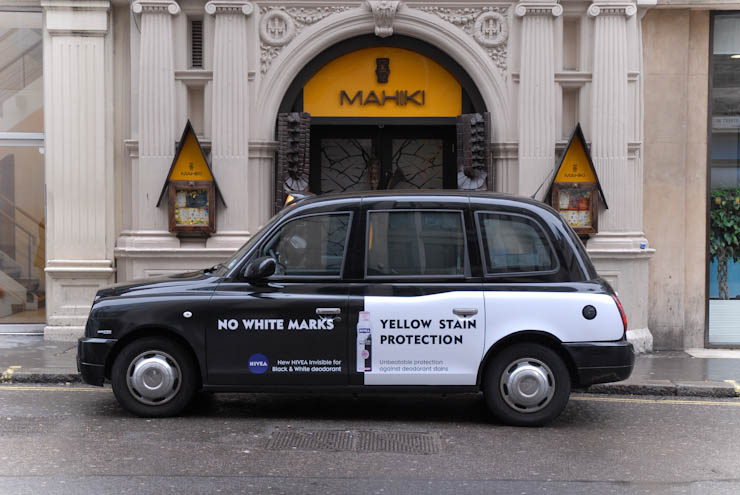 2011 Ubiquitous taxi advertising campaign for Nivea - New NIVEA Invisible Deodrant