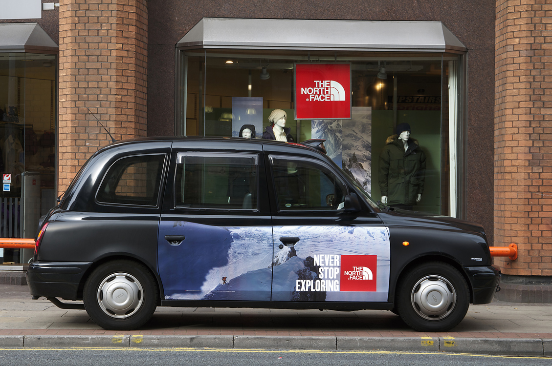 2011 Ubiquitous taxi advertising campaign for The North Face - Never Stop Exploring