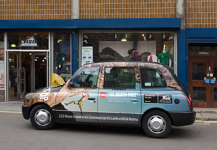2010 Ubiquitous taxi advertising campaign for The North Face - The North Face