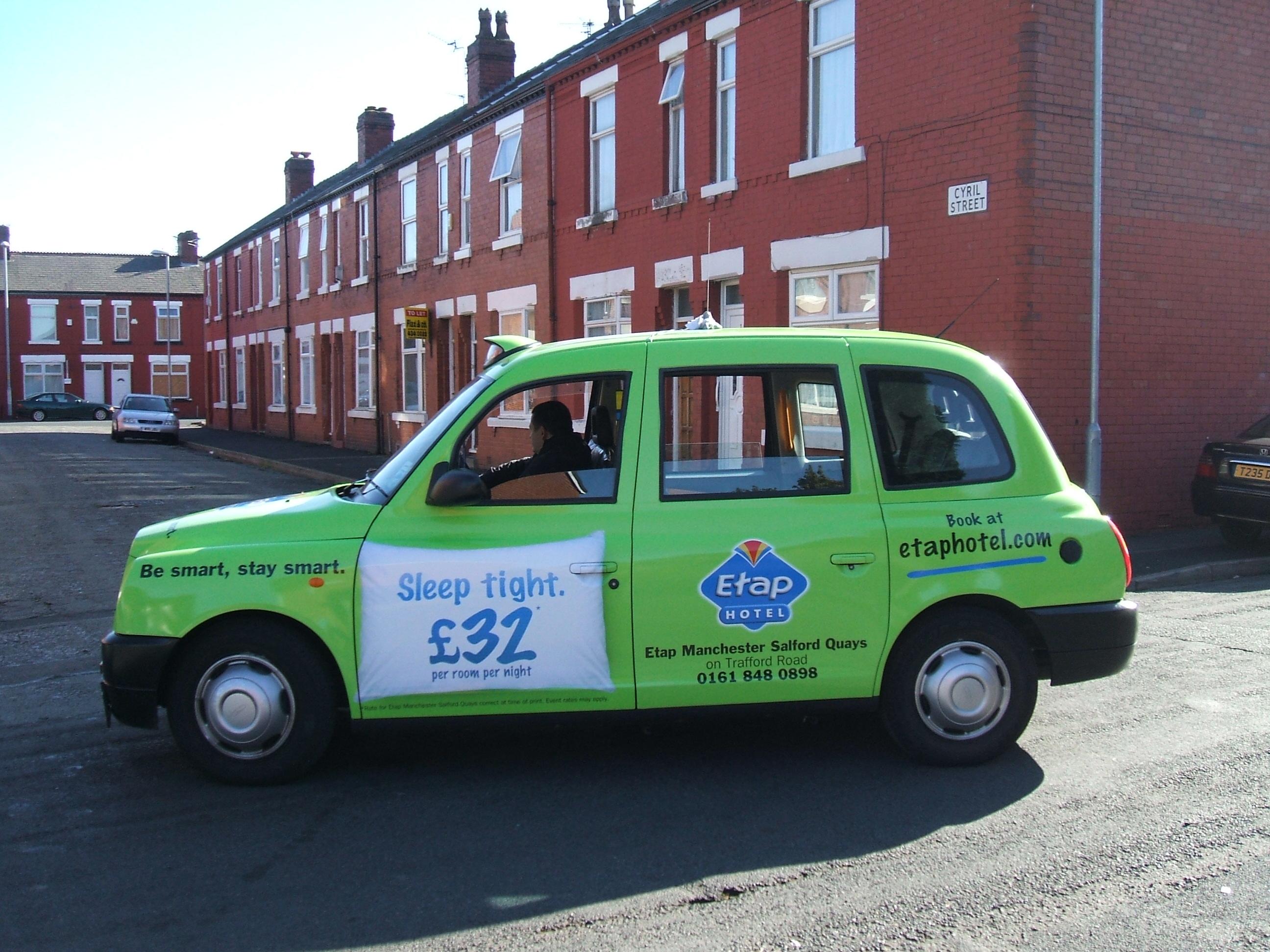 2009 Ubiquitous taxi advertising campaign for Etap - Various