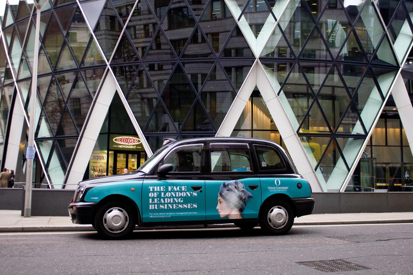 2011 Ubiquitous taxi advertising campaign for Office Concierge - The Face of London's Leading Businesses