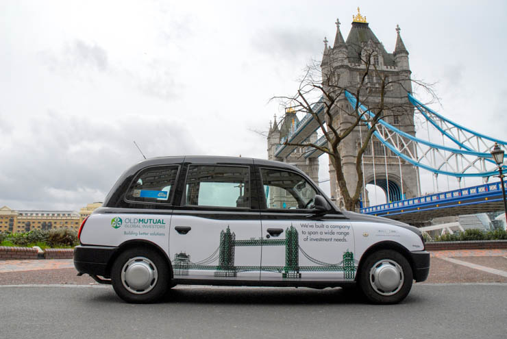 2013 Ubiquitous taxi advertising campaign for Old Mutual - Building better solutions