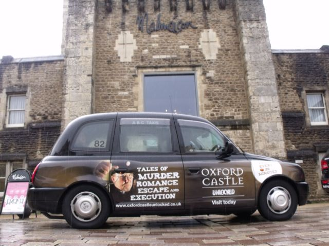 2007 Ubiquitous taxi advertising campaign for Oxford Castle - Oxford Castle Unlocked