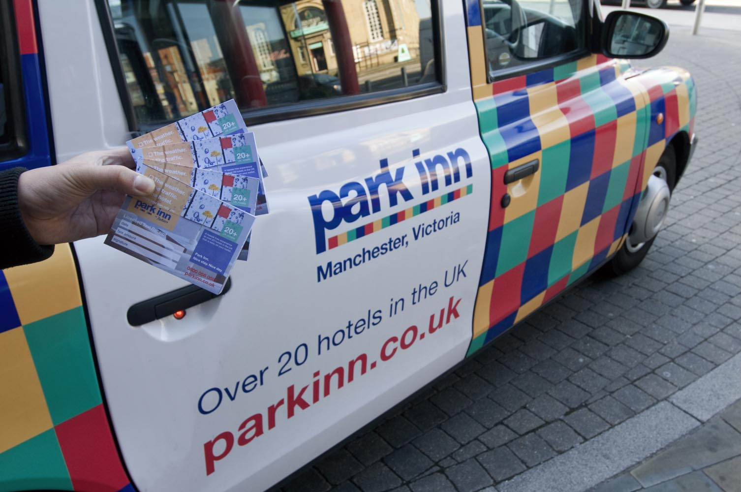2011 Ubiquitous taxi advertising campaign for Park Inn - Over 20 Hotels in the UK
