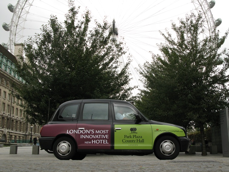 2007 Ubiquitous taxi advertising campaign for Park Plaza - London's Most Innovative New Hotel
