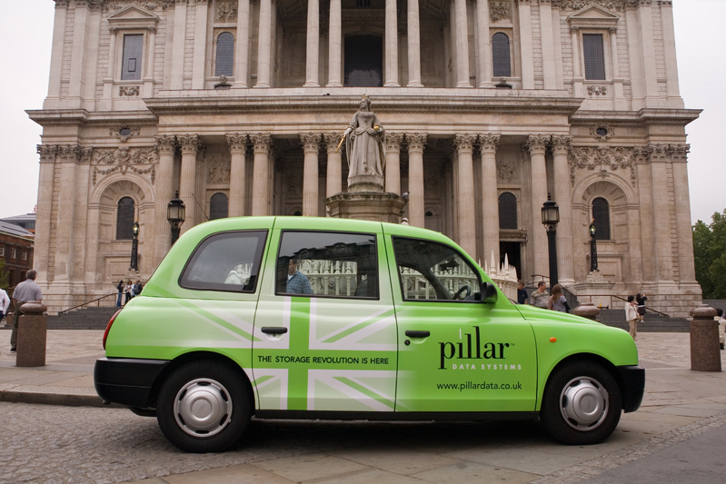 2007 Ubiquitous taxi advertising campaign for Pillar Data - The Storage Revolution is Here