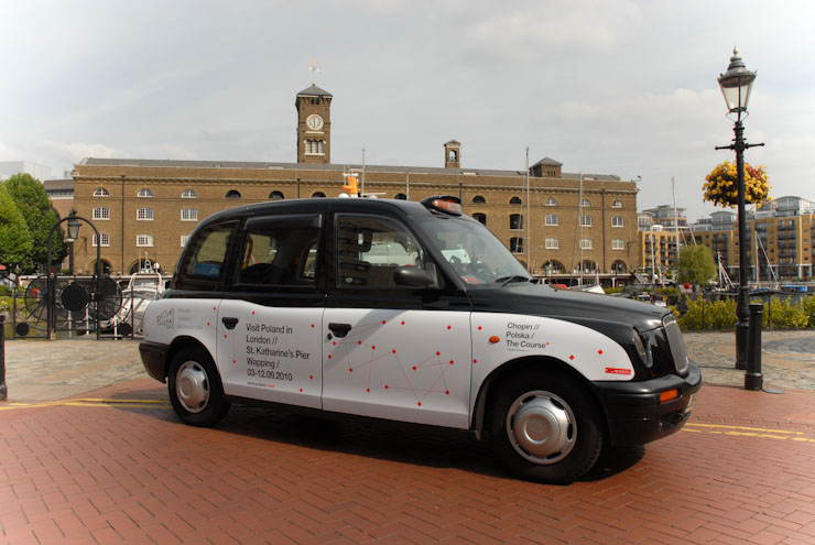 2010 Ubiquitous taxi advertising campaign for Polish Tourism - Visit Poland in London