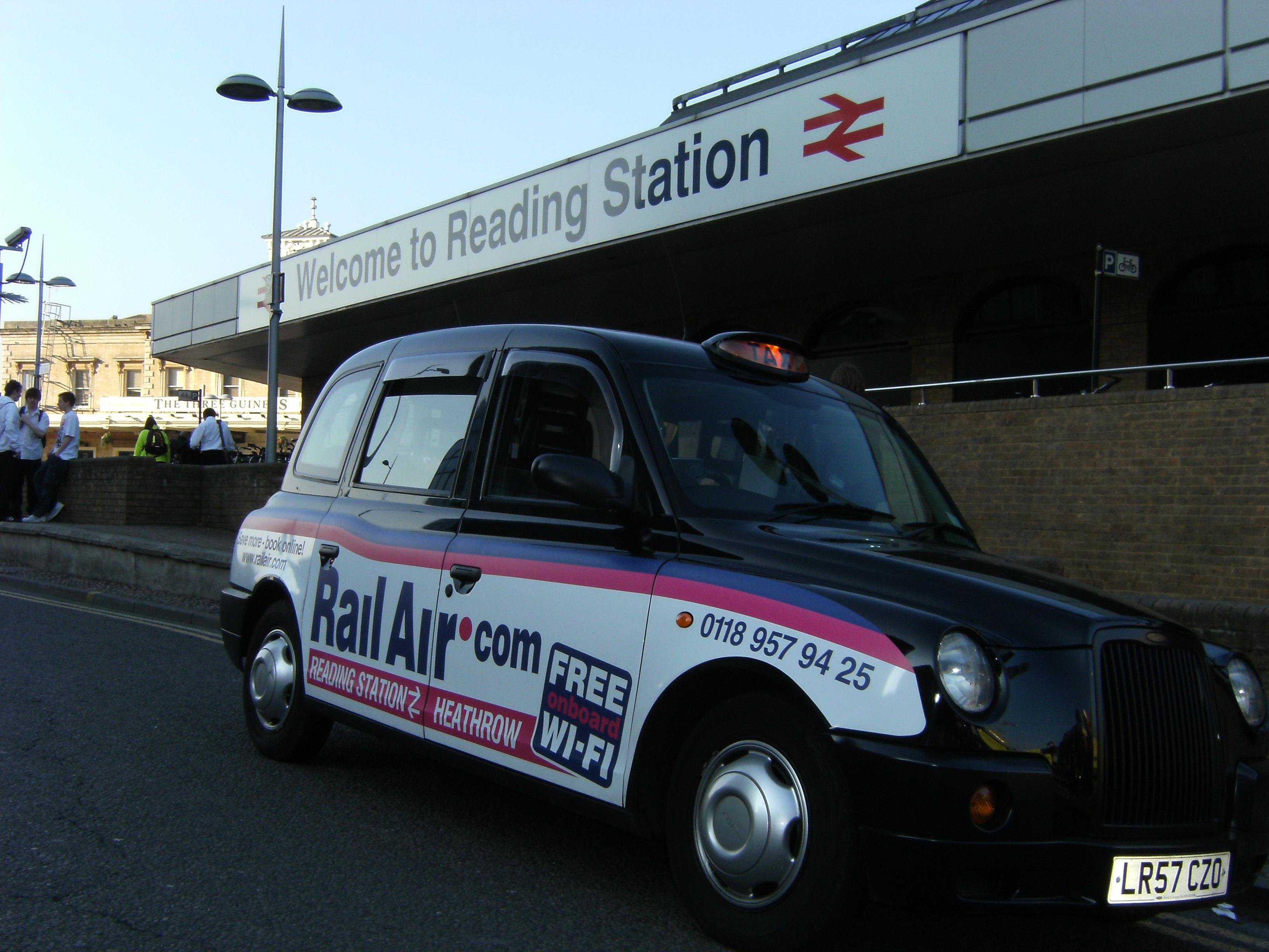 2010 Ubiquitous taxi advertising campaign for Rail Air - Rail Air.Com