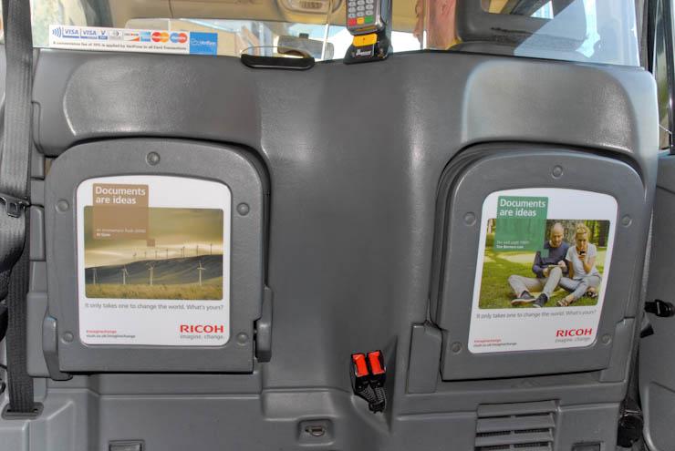 2012 Ubiquitous taxi advertising campaign for Ricoh - Imagine. Change.