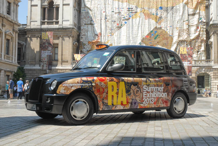 2013 Ubiquitous taxi advertising campaign for Royal Academy - Royal Academy - Summer Exhibition 2013
