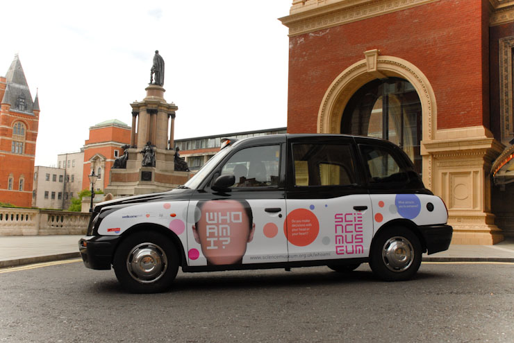 2010 Ubiquitous taxi advertising campaign for Science Museum - Who Am I?