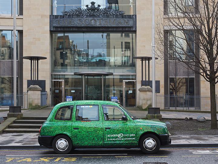 2011 Ubiquitous taxi advertising campaign for Scotsman - Scotsman.Com/Jobs