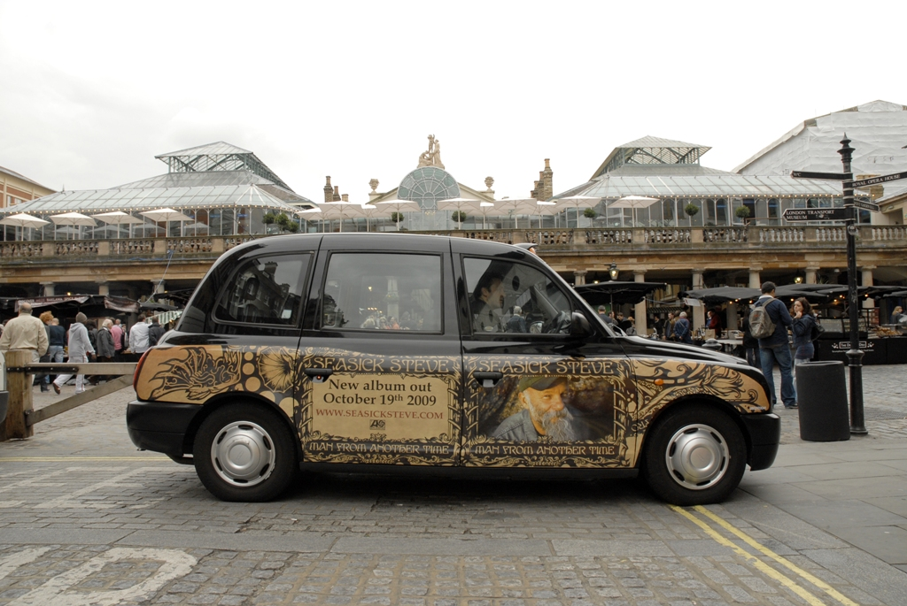 2009 Ubiquitous taxi advertising campaign for Warner Music Group - Sea Sick Steve New Album Launch