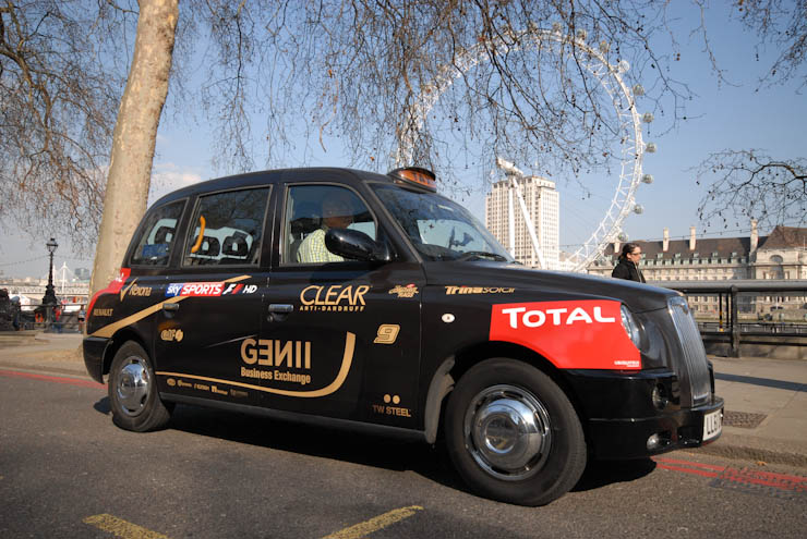 2012 Ubiquitous taxi advertising campaign for Sky - Sky Sports F1 HD