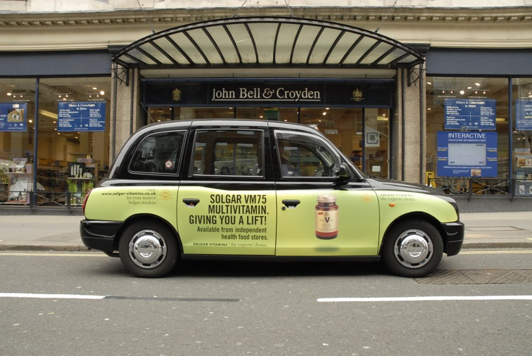 2009 Ubiquitous taxi advertising campaign for Solgar - The Experts' Choice