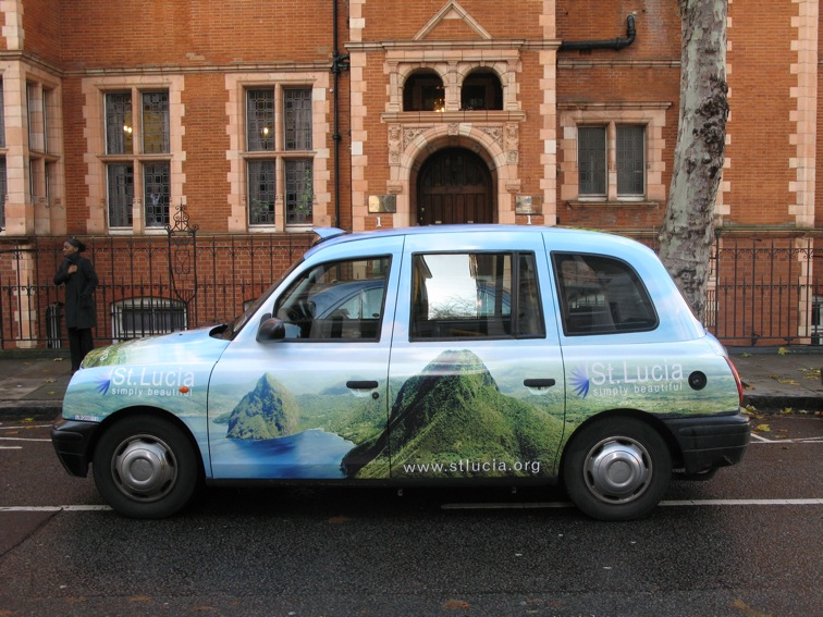 2007 Ubiquitous taxi advertising campaign for St Lucia Tourist Board - St Lucia