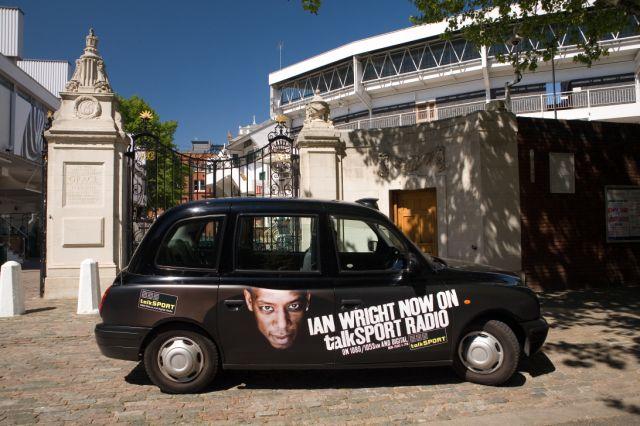 2007 Ubiquitous taxi advertising campaign for Talksport - Ian Wright now on Talksport Radio