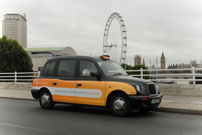 2010 Ubiquitous taxi advertising campaign for Thomson Reuters - Introducing Thomson Reuters Eikon