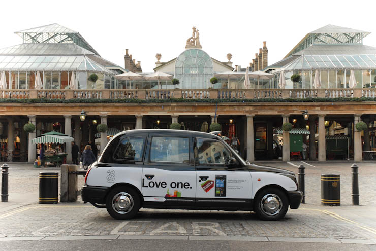 2010 Ubiquitous taxi advertising campaign for 3 - Love One