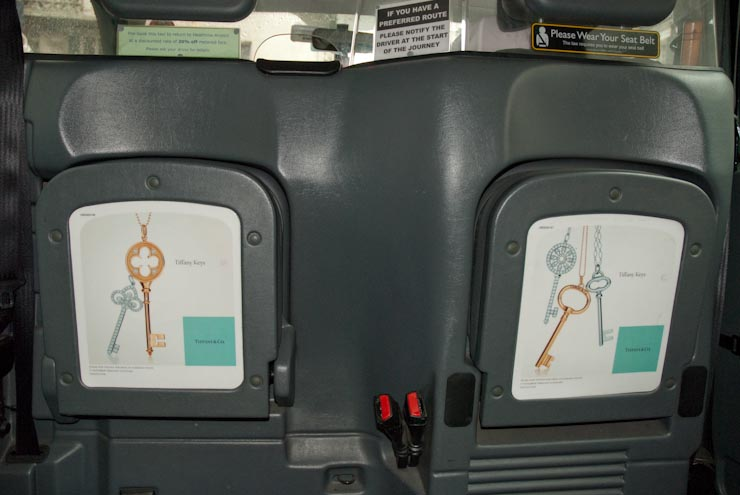 2010 Ubiquitous taxi advertising campaign for Tiffany - Tiffany & Co.