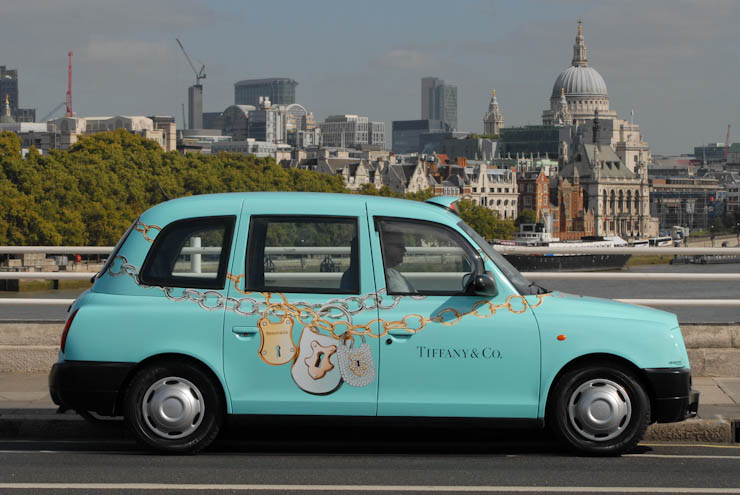 2011 Ubiquitous taxi advertising campaign for Tiffany - Tiffany & Co.