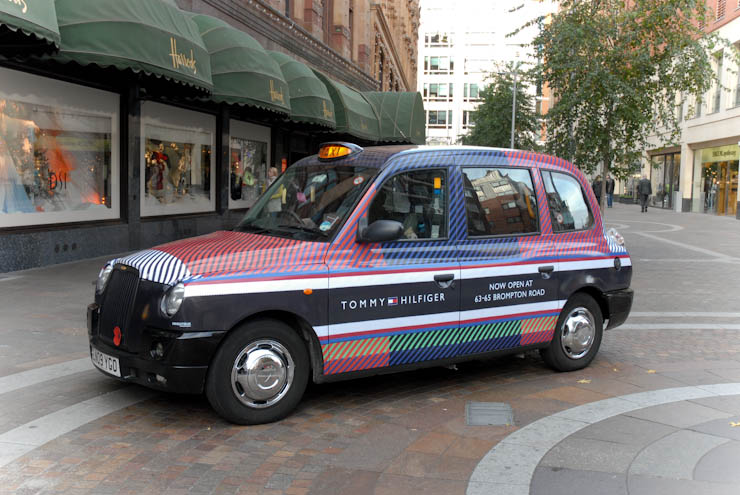 2011 Ubiquitous taxi advertising campaign for Tommy Hilfiger - Happy Holidays from the Hilfigers